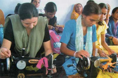 A project teaching tailoring skills run by the Delhi Brotherhood